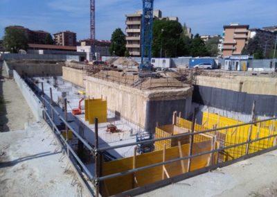 Diaframmi e parte di scavi Via Torre degli Agli